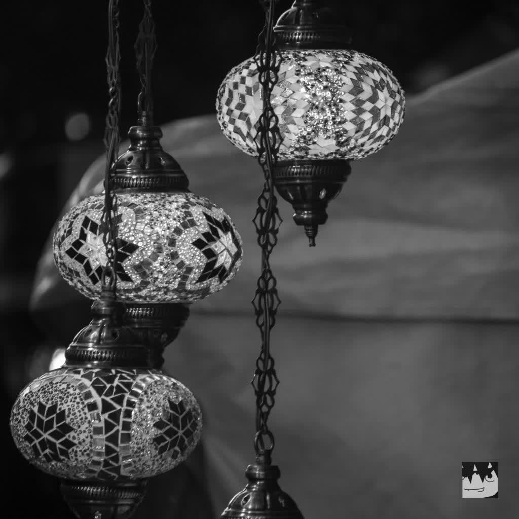 Arab Lamps at the Medieval Market at Avila, Spain