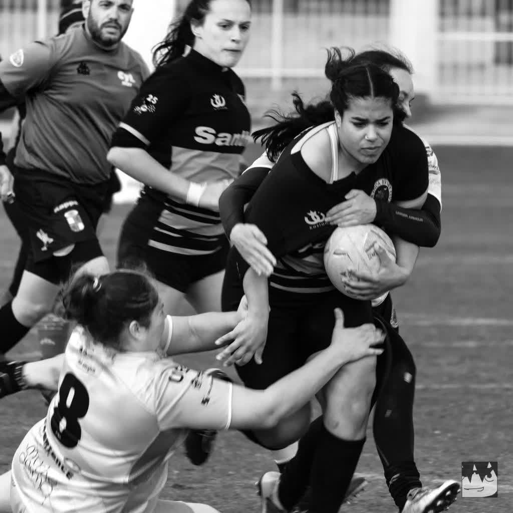 Female rugby match