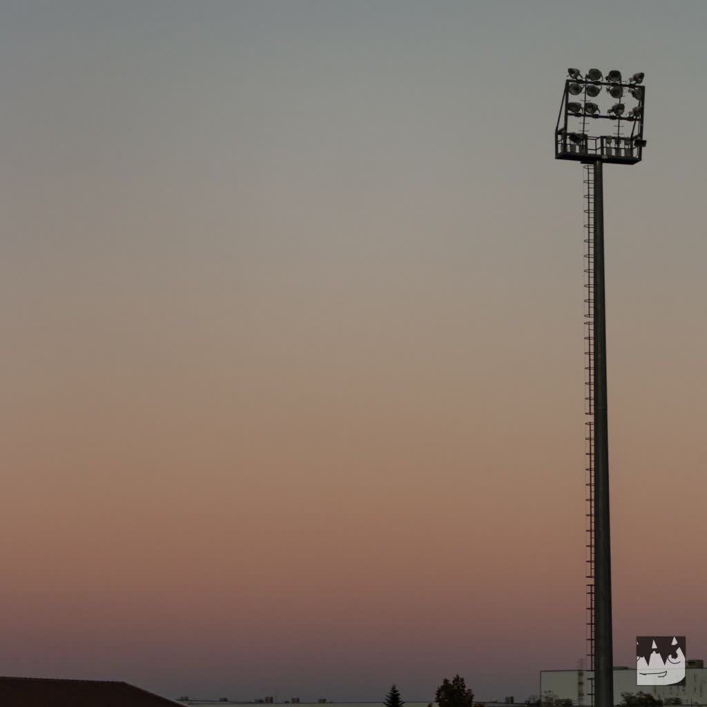 Lamp post of a football field