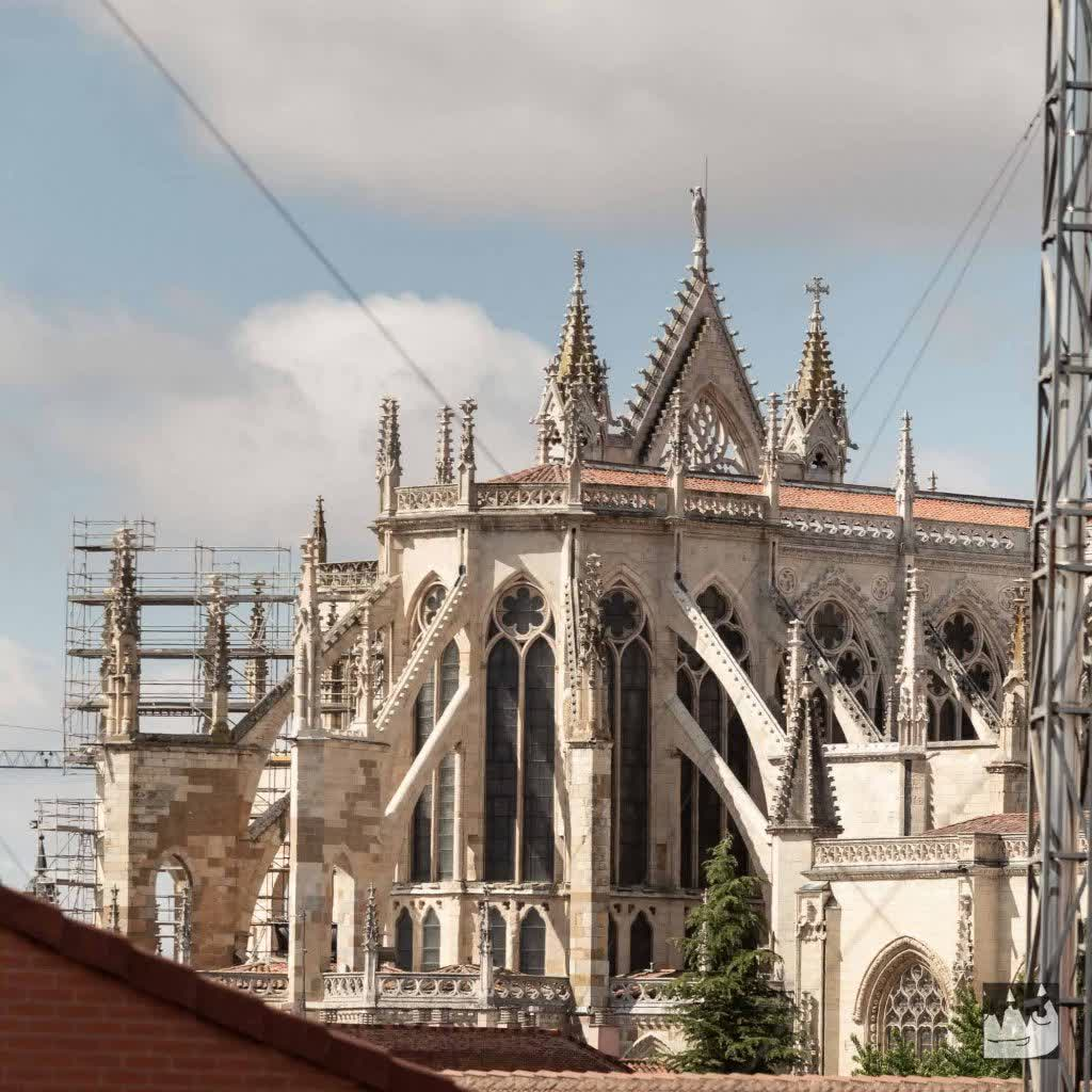 Cathedral at Leon, Spain, under construction